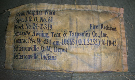 Illustration Showing Label On A Tent Hospital Ward This
