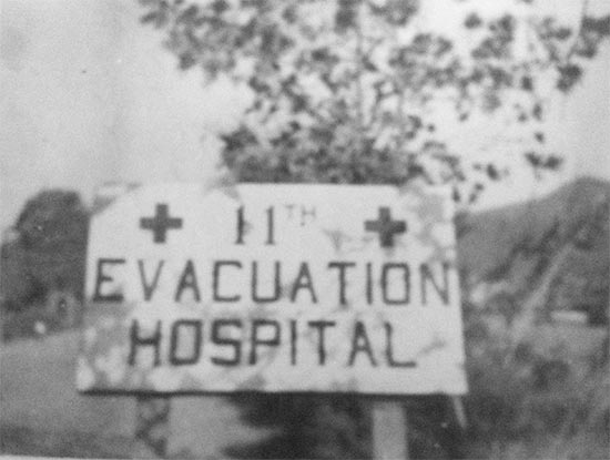 Illustration showing the unit sign of the 11th Evacuation Hospital.