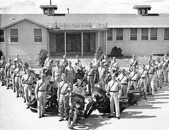 Photo illustrating the Headquarters building, Camp Bowie, Brownwood, Texas, where the 51st Field Hospital was activated on 10 September 1943.