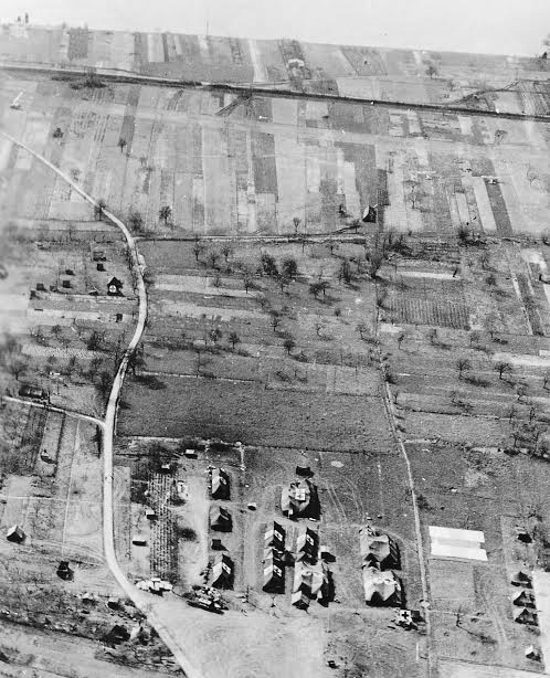 Partial aerial view of the 51st Field Hospital, while established in Germany.
