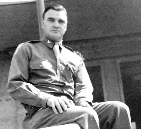 Portrait of Colonel Henry W. Daine, MC, O-17804, Commanding Officer, 107th Evacuation Hospital (SM). Photo taken while the organization was set up in Würzburg, Germany, May – September 1945.