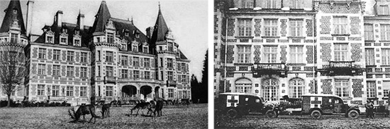 Picture illustrating Château de Roumont, Libin, Belgium, where the 107th Evacuation Hospital remained between 17 and 21 December 1944, following the German thrust in the Belgian Ardennes.