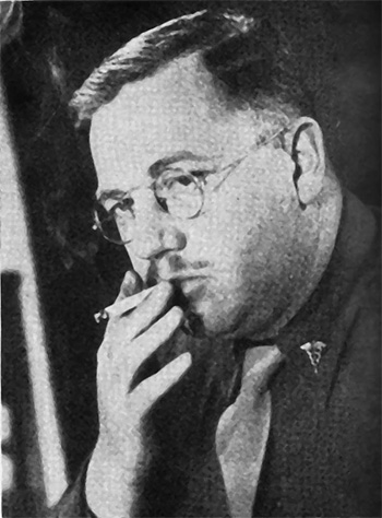 Portrait photograph of Major Charles E. Tegtmeyer, Regimental Surgeon, smoking a cigarette.