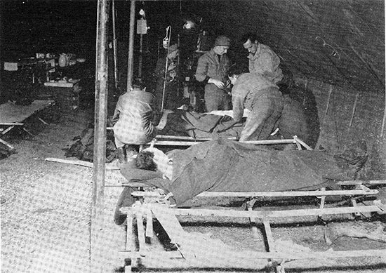 General overview of the Shock Ward at the 11th Field Hospital.
