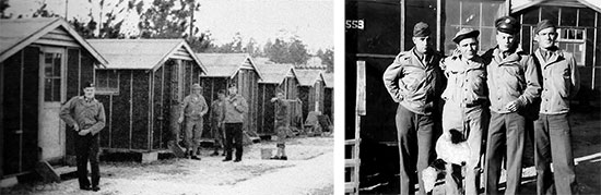 Vintage pictures illustrating some of the Enlisted Men's barracks and 207th General Hospital Enlisted personnel, while still training at Camp Livingston, Louisiana. Some of the barracks were constructed of cheap materials, with walls covered with tar paper. The new 58th General Hospital unit was stationed at Camp Livingston from January 15, 1943 until August 11,  1943.