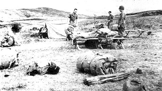 June 10, 1943, Souk Ahras, Algeria, last overnight bivouac before reaching Bizerte, Tunisia.