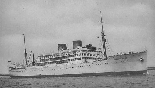 Picture of Llangibby Castle, which carried the 58th General Hospital across the English Channel to France. Traveling aboard the ship were other medical units such as the 25th – 27th – and 227th General Hospitals.