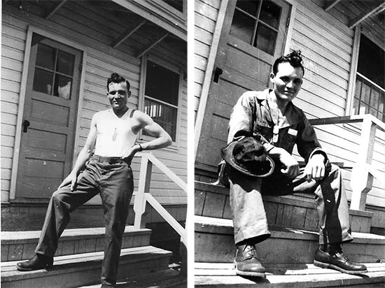 Two pictures of Private Quentin C. Unruh taken while following training at William Beaumont General Hospital, El Paso, Texas. The period was summer of 1943.