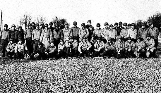 Group picture of 58th General Hospital personnel taken at Lérouville, France.