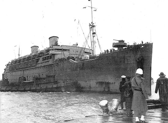 Picture of S/S Mariposa, which carried the 56th Evacuation Hospital from New York, ZI, to Casablanca, French Morocco. Because she was a fast ship, the journey only lasted eight days, from April 16 to April 24, 1943.