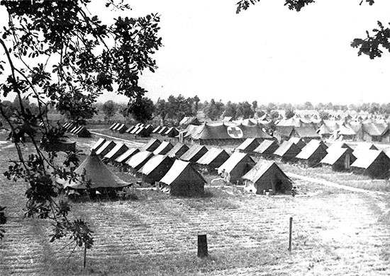 Picture illustrating the 56th Evacuation Hospital site at Nocelleto, where the organization set up from April 12 to May 26, 1944.