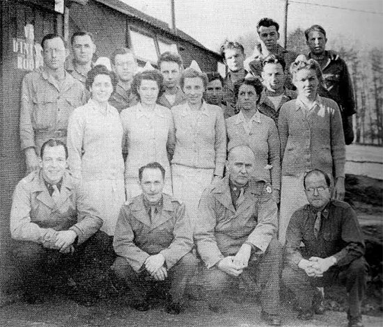 Another picture of Officers, Nurses, and some Enlisted Men of the Surgical Division, while being stationed in the United Kingdom.