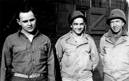 Unidentified servicemen of the 58th General Hospital, probably during their stay in France.